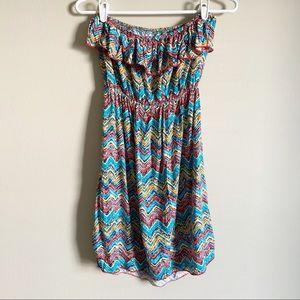 🌻 BODY CENTRAL - blue strapless dress - size M